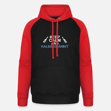 Chill Underwear keep calm and Kalsarikännit - Unisex Baseball Hoodie