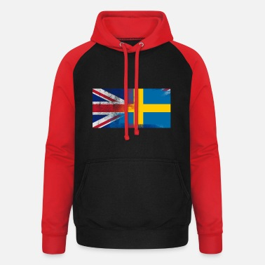 England British Swedish Half Sweden Half UK Flag - Baseball hoodie unisex