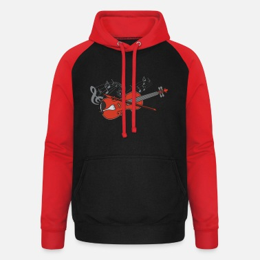 Fiddlestick Violin violin player lover gift idea motif - Unisex Baseball Hoodie