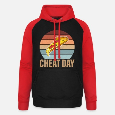 Cheatday fitness gift bodybuilder - Unisex Baseball Hoodie