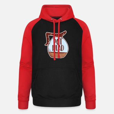 Koffie Koffie Juice Of Life Pot Head Gift - Unisex baseball hoodie