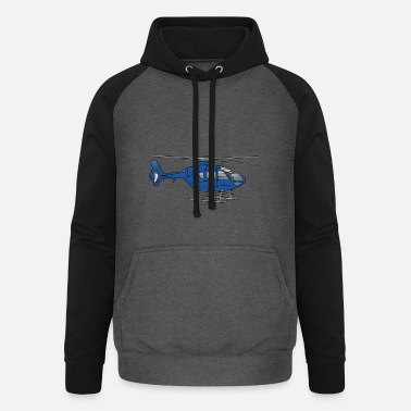 Bailout Blue helicopter - Unisex Baseball Hoodie