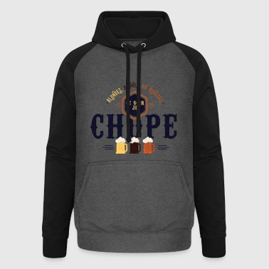 Ce soir je chope - Sweat-shirt baseball unisexe