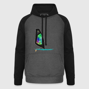 Windsurfer - Sweat-shirt baseball unisexe