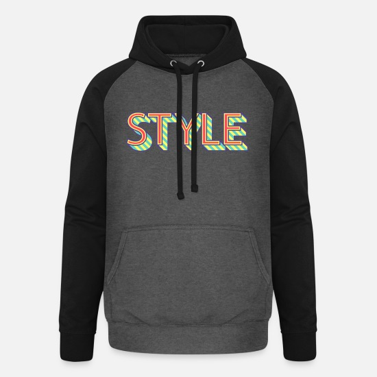 Stylish Hoodies & Sweatshirts - Style - Unisex Baseball Hoodie graphite/black