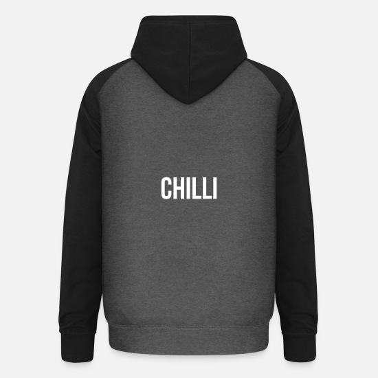 Chilli Hoodies & Sweatshirts - Chilli - Unisex Baseball Hoodie graphite/black