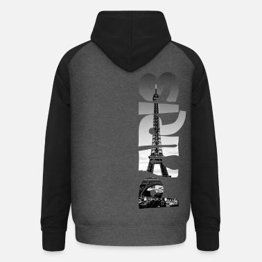Paris Eiffel Tower - Unisex Baseball Hoodie