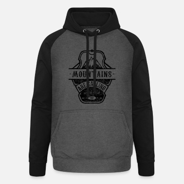 mountains are calling - schwarz - Unisex Baseball Hoodie
