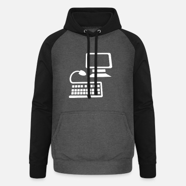 Office Life Computer office life - Unisex Baseball Hoodie