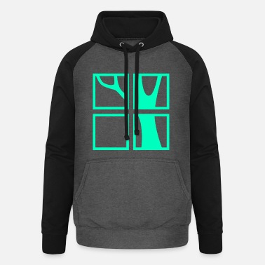 Windows Windows med utsikt - Baseball hoodie unisex