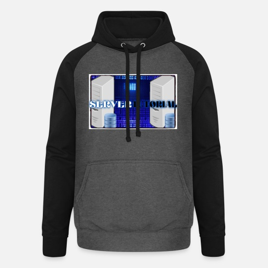 Party Hoodies & Sweatshirts - Server Tutorial - Unisex Baseball Hoodie graphite/black