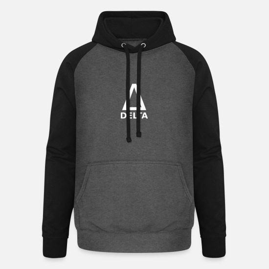 Greece Hoodies & Sweatshirts - Greek bush Delta - Unisex Baseball Hoodie graphite/black
