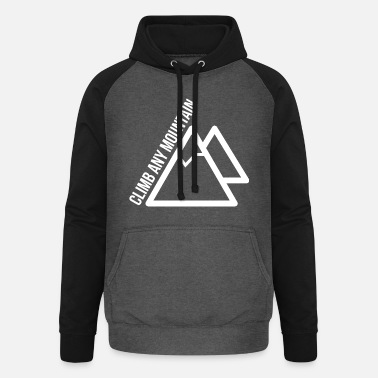 Climb Any Mountain - Unisex Baseball Hoodie