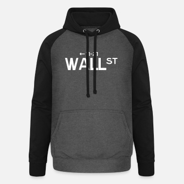 Wallstreet Plaque de rue Wallstreet - Sweat à capuche baseball unisexe