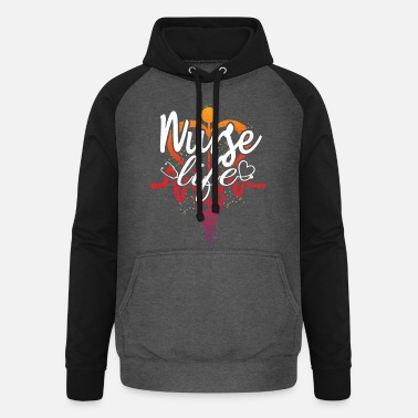 Heart Attack Nurse life - Unisex Baseball Hoodie