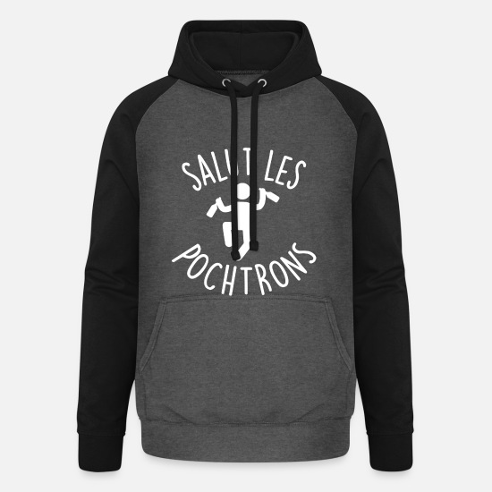Alcohol Hoodies & Sweatshirts - hi the pochtrons - Unisex Baseball Hoodie graphite/black