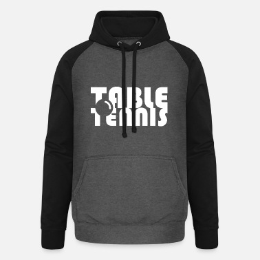 tabletennis table tennis ball player player game - Unisex Baseball Hoodie