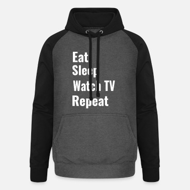Watch Tv watch TV - Unisex Baseball Hoodie