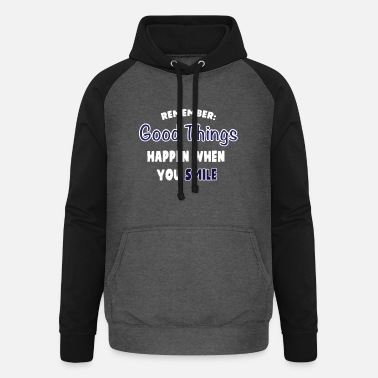 Cool Typography Funny cool typography design - Unisex Baseball Hoodie