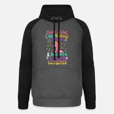 Lunch Flocking Lunch Lady Gift Canteen Cafeteria - Unisex Baseball Hoodie