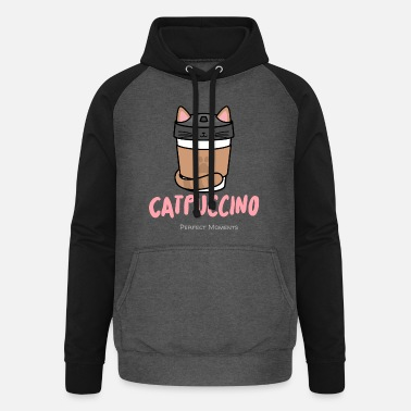 Puccino Cat - puccino .... gourmet coffee - Unisex Baseball Hoodie