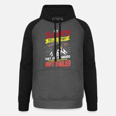 Sculptural Process My scars tell a story Welder - Unisex Baseball Hoodie