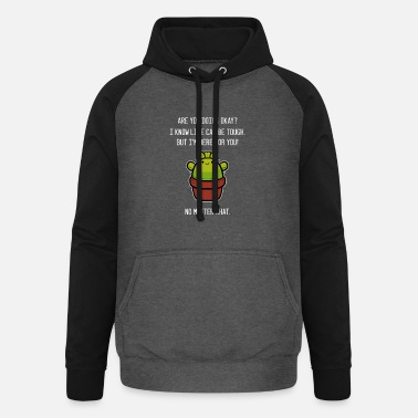 Life can be tough. Kind person Gesche - Unisex Baseball Hoodie