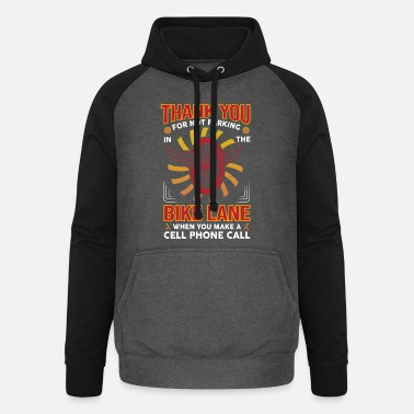 Bicycle cyclist bike great idea for biker cyclist - Unisex Baseball Hoodie