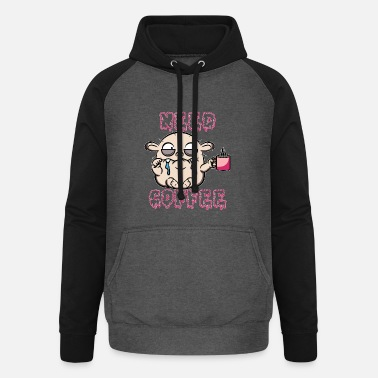Monstre de café - Sweat à capuche baseball unisexe
