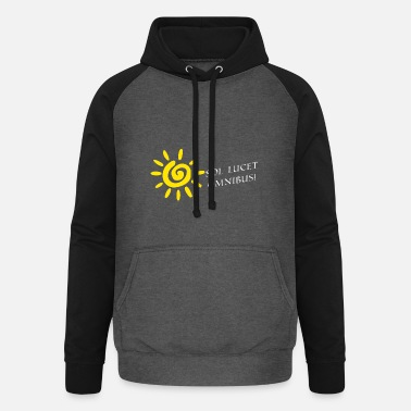 Caesar the sun shines latin white for everyone - Unisex Baseball Hoodie