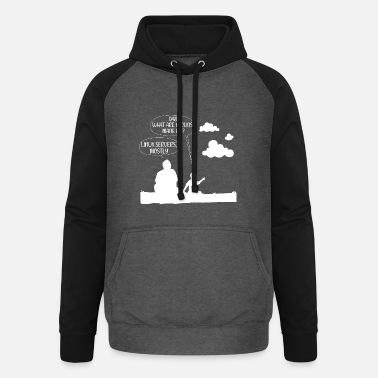 Entwickler Clouds are mostly made of linux server Geschenk - Unisex Baseball Hoodie