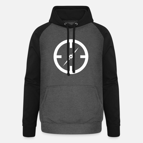 Symbol  Hoodies & Sweatshirts - Compass icon - Unisex Baseball Hoodie graphite/black