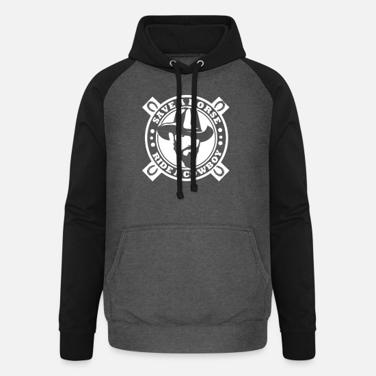 Horse Hoodies & Sweatshirts - Save a horse - ride a cowboy - Unisex Baseball Hoodie graphite/black