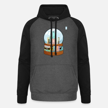 Charade New York Broadway Snow Globe Funny Gift - Unisex Baseball Hoodie