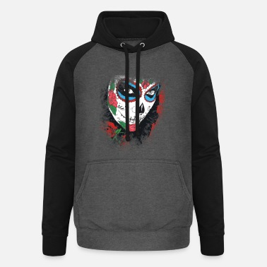 Day Of The Dead Day Of The Dead Roses - Unisex Baseball Hoodie