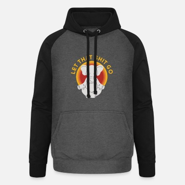 Let Let this shit go yoga elephant - Unisex Baseball Hoodie