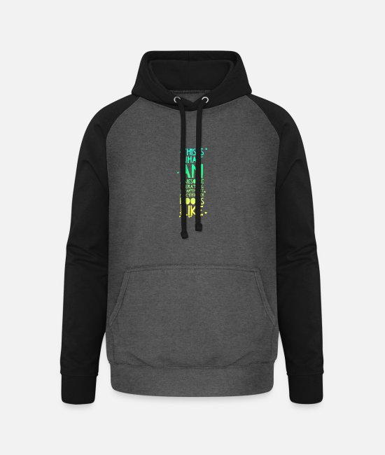 Operating Department Practice Hoodies & Sweatshirts - Awesome ODP - Unisex Baseball Hoodie graphite/black