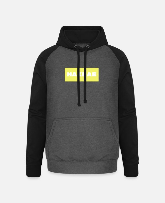 Beliebt Pullover & Hoodies - Maknae - Junior in Koreanisch - Unisex Baseball Hoodie Graphit/Schwarz