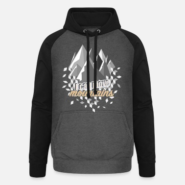 Move Moving mountains - Unisex Baseball Hoodie