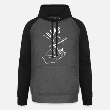 Ideas in hands - white - Unisex Baseball Hoodie