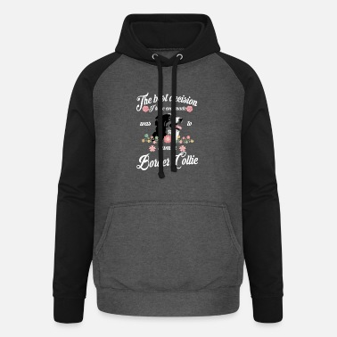 Border Collie Border Collie - Unisex Baseball Hoodie