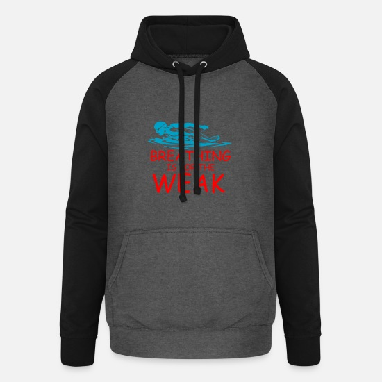 Bicyclette Hoodies & Sweatshirts - Swim - Unisex Baseball Hoodie graphite/black