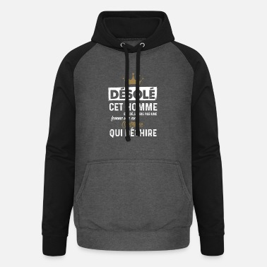Octobre desole couple homme nee en Octobre - Sweat à capuche baseball unisexe