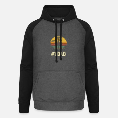 Golf # 1 Dad Disc Golf Shirt - Number One Dad Frisbee Go - Felpa da baseball con cappuccio unisex