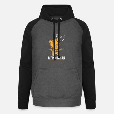 Opmerking Perfect Musician Design Quote Meowsician - Unisex baseball hoodie