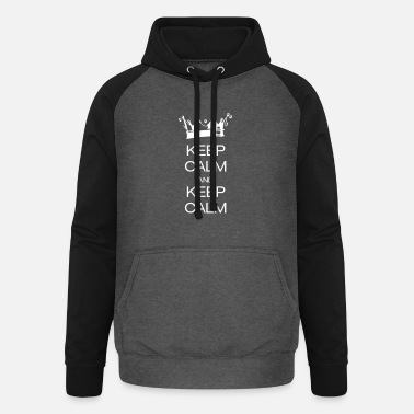 Keep Calm And keep calm and keep calm - Unisex Baseball Hoodie