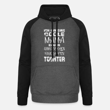 Cool Mom Daughter Gift Idea Mother's Day - Unisex Baseball Hoodie