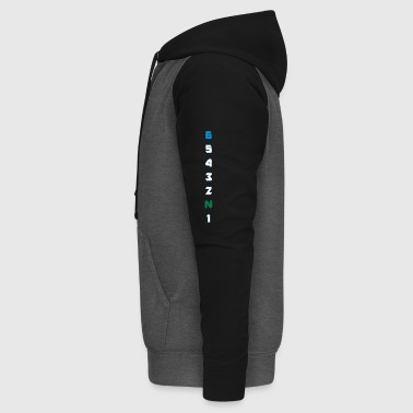 6 Gears Gänge long colors - Unisex Baseball Hoodie
