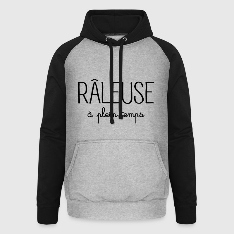 Râleuse à Plein Temps - Sweat-shirt baseball unisexe