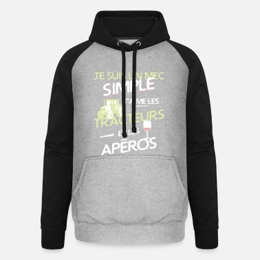 Apero Agriculteur - un mec simple - Sweat-shirt baseball unisexe